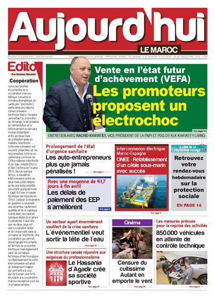 Journal Électronique du Vendredi 12 Juin 2020