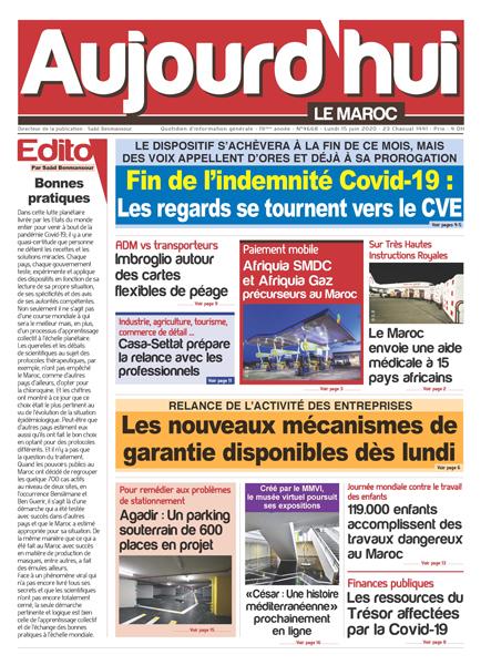Journal Électronique du Lundi 15 Juin 2020