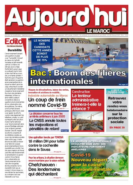 Journal Électronique du Vendredi 19 Juin 2020