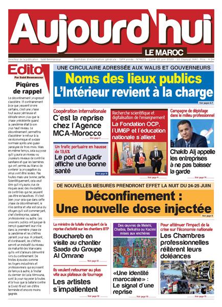 Journal Électronique du Lundi 22 Juin 2020