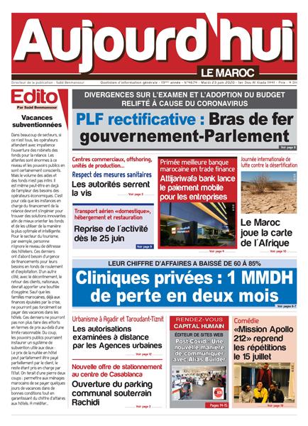 Journal Électronique du Mardi 23 Juin 2020
