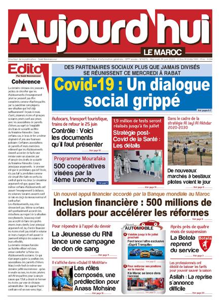 Journal Électronique du Mercredi 24 Juin 2020