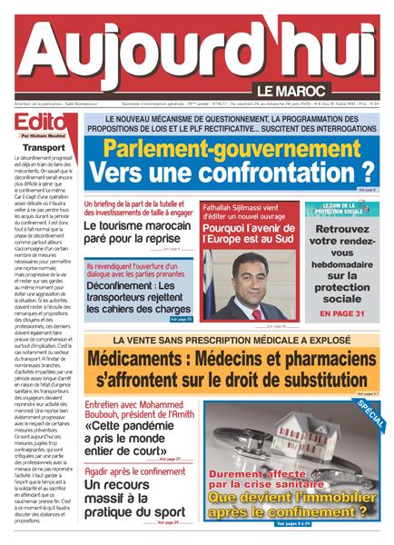 Journal Électronique du Vendredi 26 Juin 2020