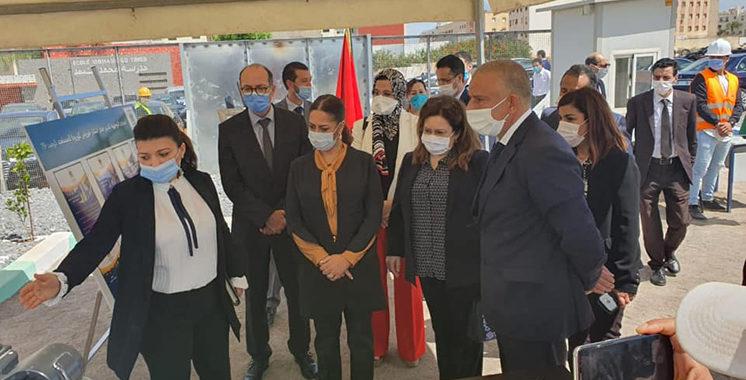 Nouzha Bouchareb en visite au chantier Saada du Groupe Al Omrane