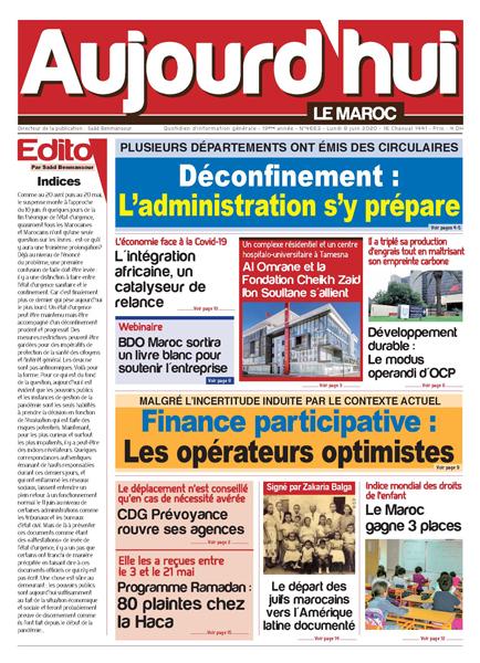 Journal Électronique du Lundi 8 Juin 2020