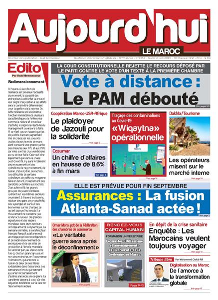 Journal Électronique du Mardi 2 Juin 2020