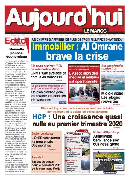 Journal Électronique du Mercredi 1er Juillet 2020