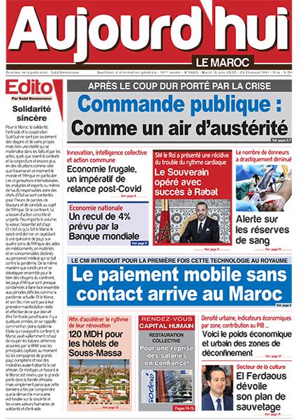 Journal Électronique du Mardi 16 Juin 2020 | Aujourd'hui ...