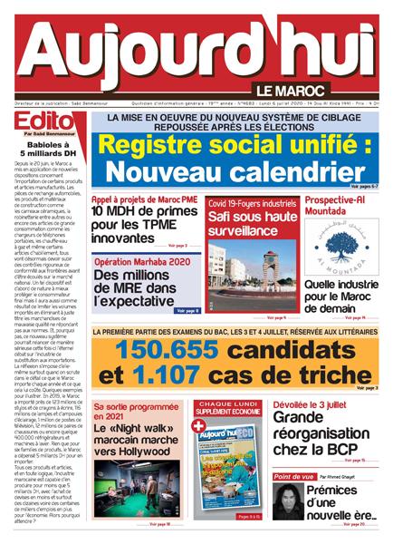 Journal Électronique du Lundi 6 Juillet 2020