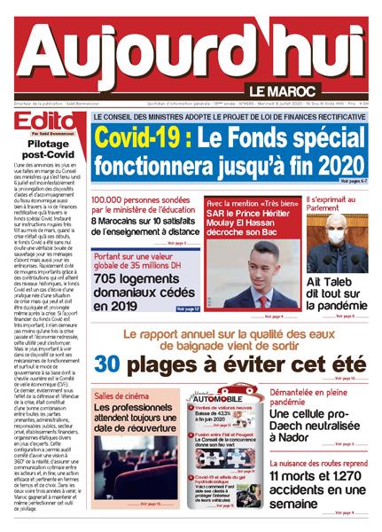 Journal Électronique du Mercredi 8 Juillet 2020