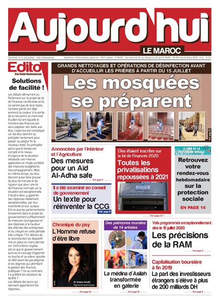 Journal Électronique du Vendredi 10 Juillet 2020
