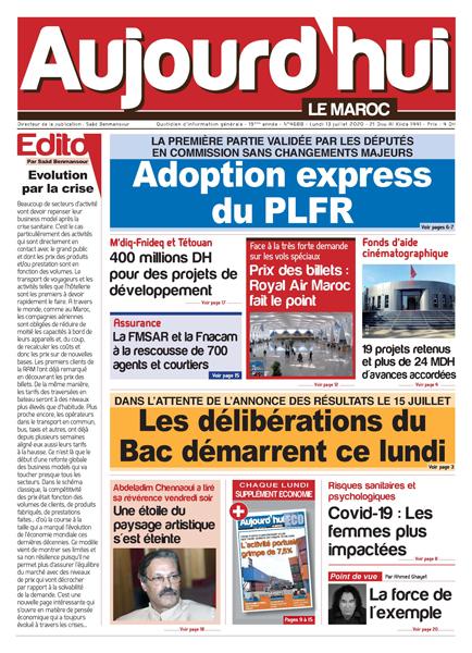 Journal Électronique du Lundi 13 Juillet 2020