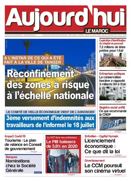 Journal Électronique du Mardi 14 Juillet 2020