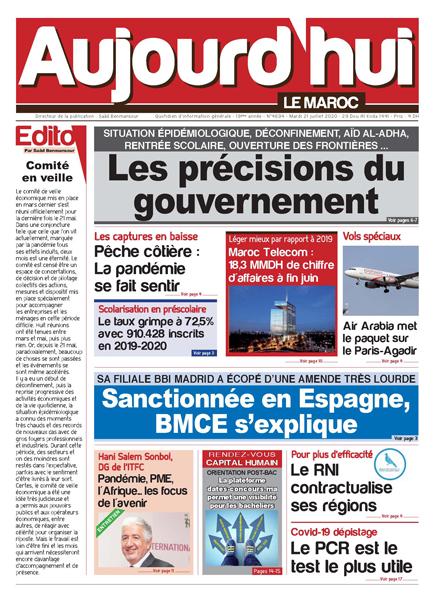 Journal Électronique du Mardi 21 Juillet 2020