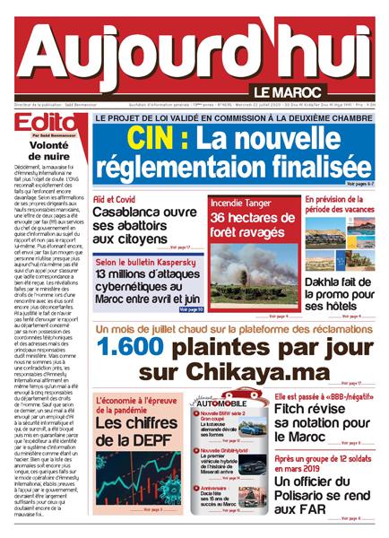 Journal Électronique du Mercredi 22 Juillet 2020