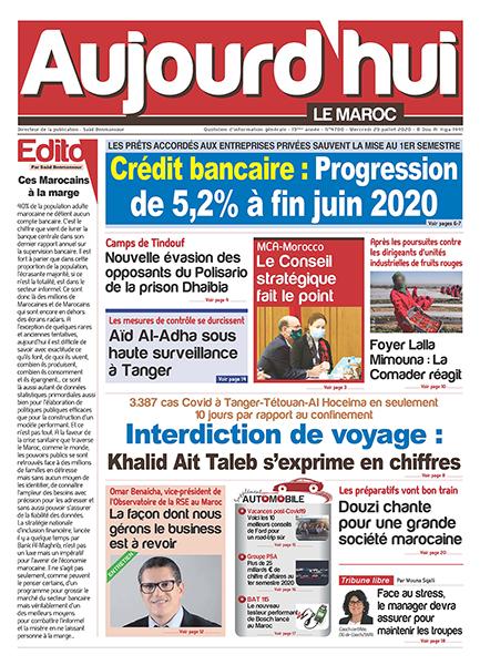Journal Électronique du Mercredi 29 juillet 2020