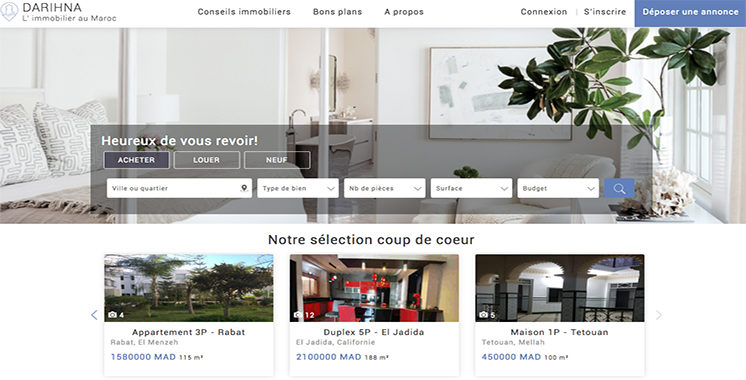 Darihna.ma : Un nouveau site d'annonces immobilières voit le jour