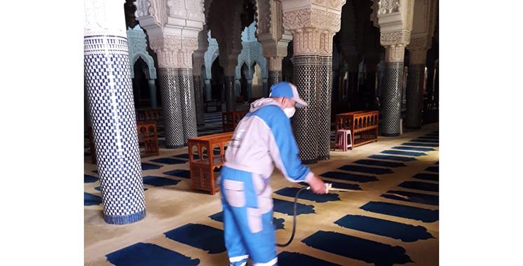 Les mosquées désinfectées et nettoyées avant la réouverture