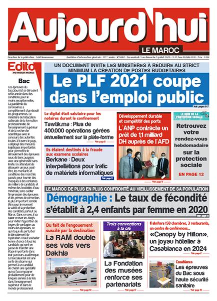 Journal Électronique du Vendredi 3 Juillet 2020