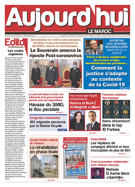Journal Électronique Lundi du 3 août 2020