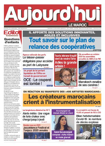 Journal Électronique du Mercredi 26 août 2020