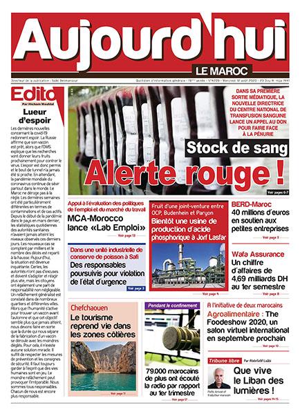 Journal Électronique du Mercredi 12 août 2020