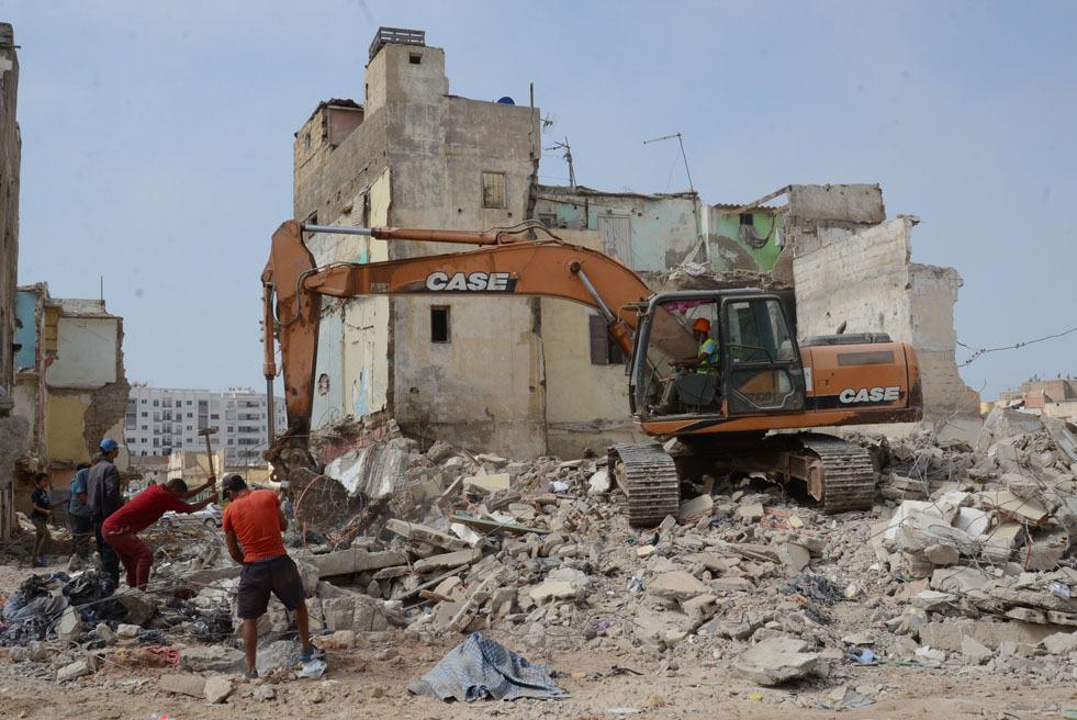 Casablanca : Effondrement d'un bâtiment vétuste dans la médina