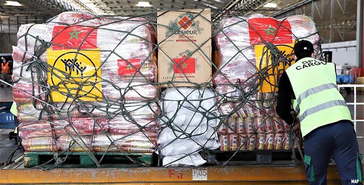 Don royal personnel sous forme d'aides alimentaires au Liban