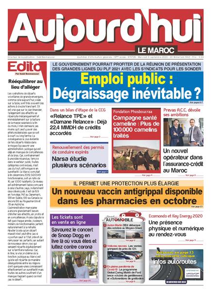 Journal Électronique du Mercredi 09 Septembre 2020