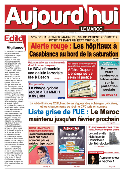 Journal Électronique du Vendredi 11 Septembre 2020