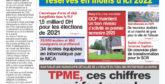 Journal Électronique du Mercredi 30 Septembre 2020
