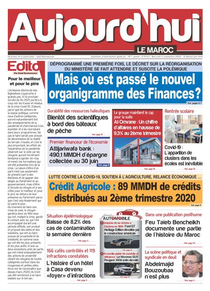 Journal Électronique du Mercredi 2 Septembre 2020