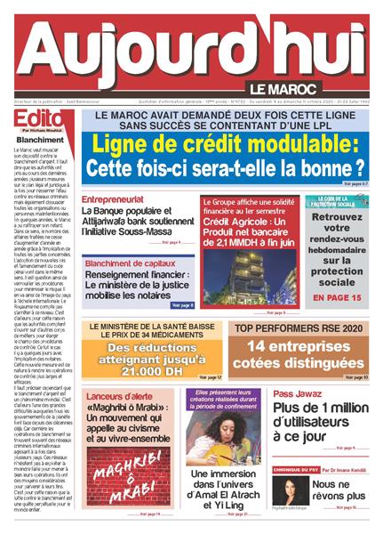 Journal Électronique du Vendredi 9 Octobre 2020