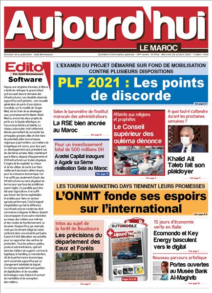 Journal Électronique du Mercredi 28 Octobre 2020