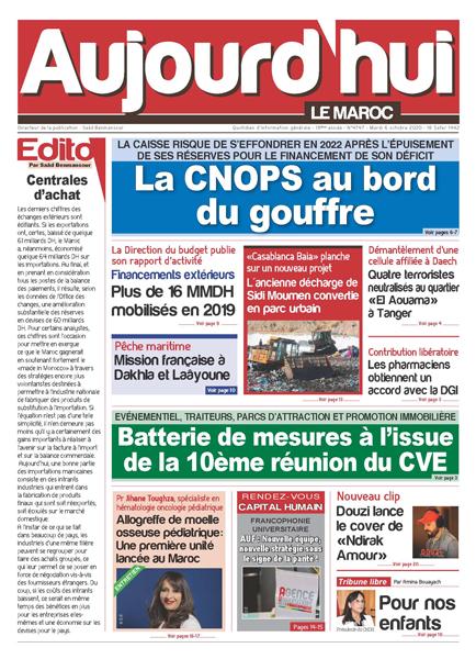 Journal Électronique du Mardi 06 Octobre 2020