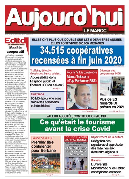 Journal Électronique du Mardi 27 Octobre 2020