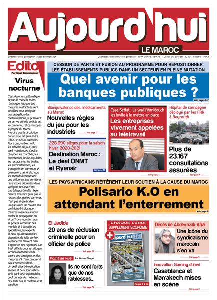 Journal Électronique du Lundi 26 Octobre 2020