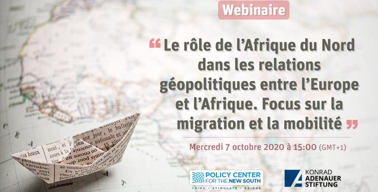 Le temps d'un webinaire Le Policy Center for the New South débat de la question migratoire