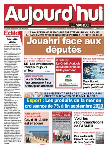 Journal Électronique du Mardi 3 novembre 2020