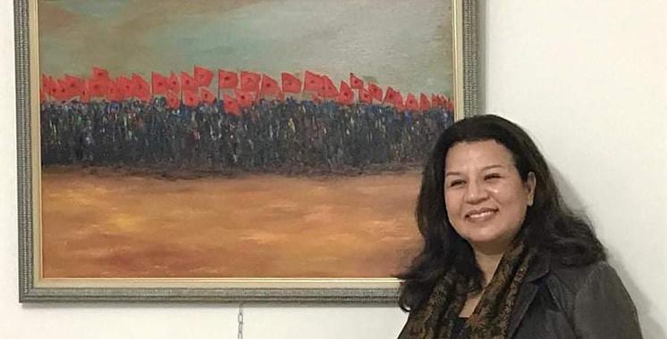 Hayat Bichr-Benjamaa dédie une toile haute en couleur à la Marche Verte
