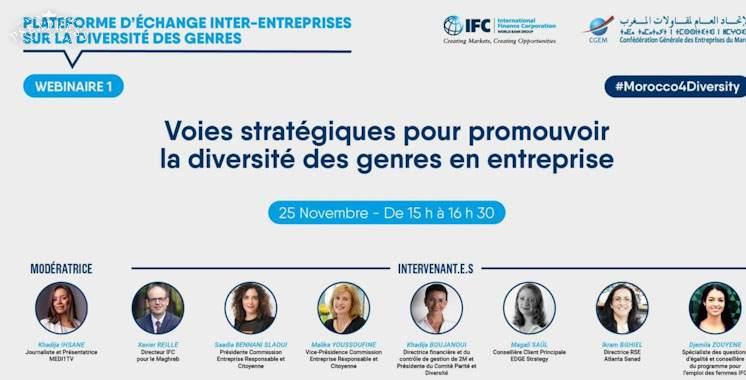 La CGEM et l'IFC lancent une série de webinaires sur l'employabilité des femmes
