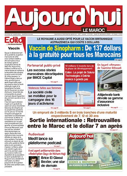 Journal Électronique du Jeudi 10 décembre 2020