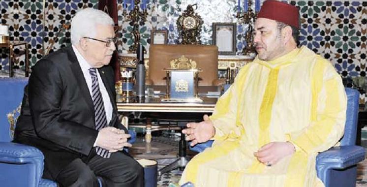 Dans un message au Président Mahmoud Abbas, SM le Roi réitère la position constante du Maroc soutenant la cause palestinienne