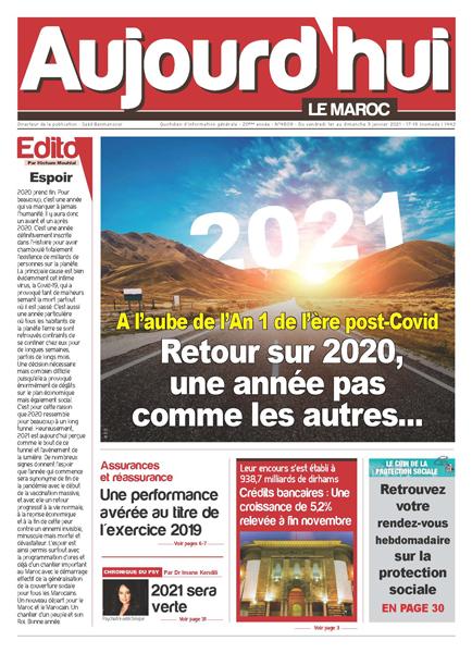 Journal Électronique du vendredi 1er au dimanche 3 Janvier 2021