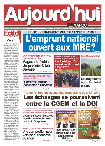 Journal Électronique du Jeudi 28 Janvier 2021