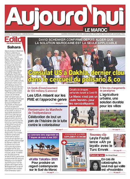 Journal Électronique du Lundi 11 Janvier 2021