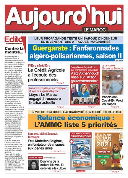 Journal Électronique du Lundi 25 Janvier 2021
