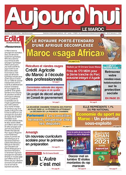 Journal Électronique du vendredi 29 au 31 dimanche Janvier 2021