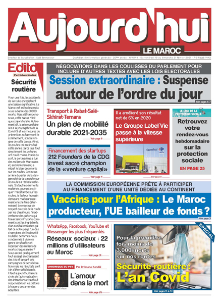 Journal Électronique du Vendredi 19 au Dimanche 21 Février 2021