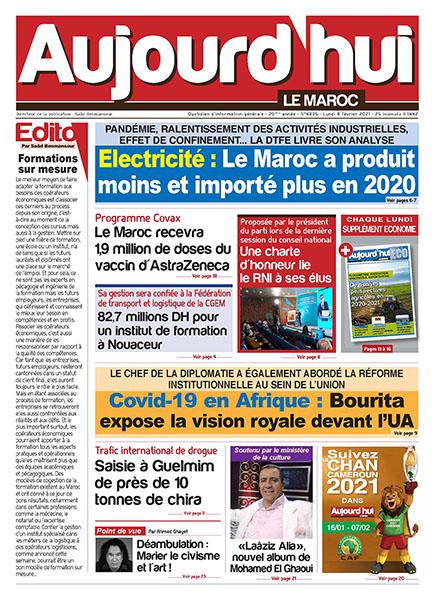 Journal Électronique du lundi 8 Février 2021